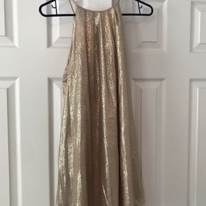 Gold sparkly mini dress